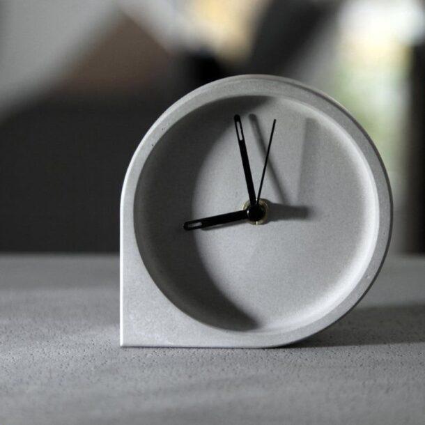 Concrete desk clock molds DIY Office decoration silicone _ Etsy